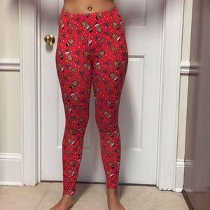 Christmas leggings! Size small! $5.